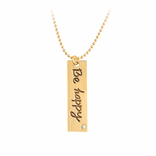 "Pendant with ""Be Happy"" Letter"