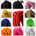 5meters/lot 6mm Round Braided Leather Cords With Multi colors Leather Cord Bracelet Necklace For DIY Jewelry Making F2023