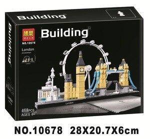 Image 2 - 10678 アーキテクチャビルディングセットロンドン 21034 ビッグベンタワーブリッジモデルビルディングブロックレンガのおもちゃ