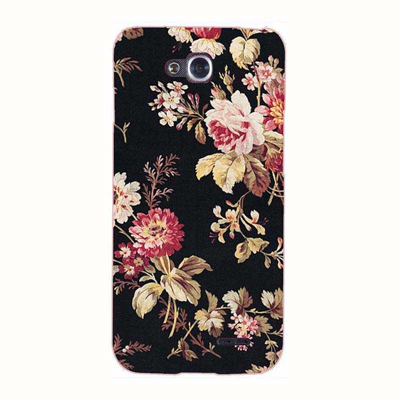 Telefoon Gevallen Voor Lg Optimus L90 D410 D405 D405N Case Print Rose Wolf Patroon Cover Soft Silicone Back Shell fundas Para