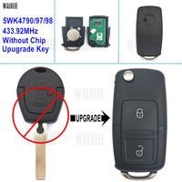 WALKLEE Upgrade Remote Key 433.92 MHz for SEAT Alhambra/Ibiza/Arosa/Cordoba 5WK4790/97/98 without Immobilizer Chip
