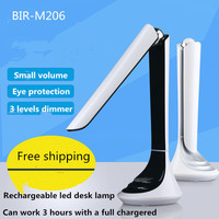 LED Table Desk Folding Lamp 4.5W 3 Levels Brightness dimmer Adjustable Eye Protection USB 1800MA Rechargeable Led Reading Lamp