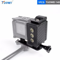 TUOWEI For Gopro 30m Underwater Diving Waterproof FlashLight Lamp LED Flash For Gopro Hero 6 5