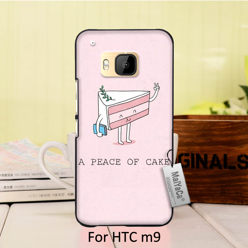 MaiYaCa Classic image paintings cover mobile phone case For case HTC One m9 A peace of cake sweet happiness ...