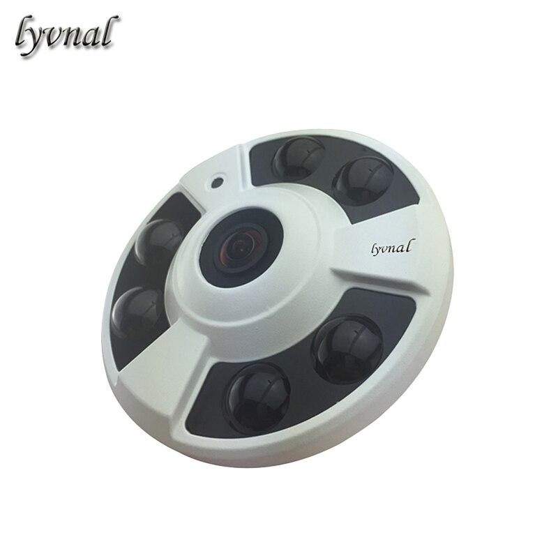 1 6MM Fisheye lens IP Camera Audio Full View Wide Angle 180 Degree 720P 960P 1080P