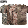 Summer Outdoors Hunt Camouflage T-shirt Men Breathable Tactical Combat Army T Shirt Military Uniform Quick Dry Camo Casual Tee
