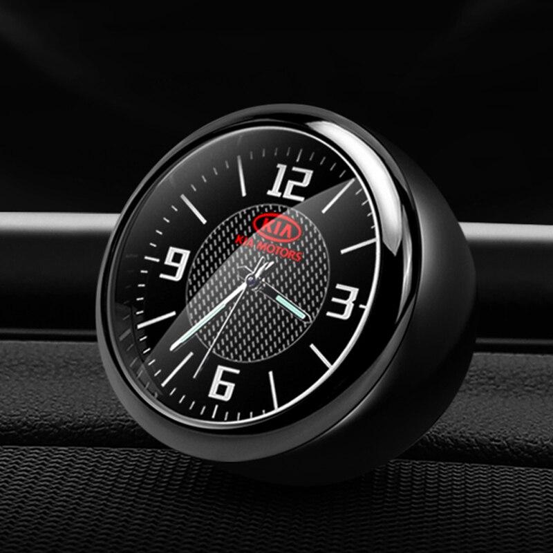 Relógio de pulso do carro relógio eletrônico tempo decoração controle central modificado relógio para kia k3k5k2k4 zhi correndo kx3 acessórios
