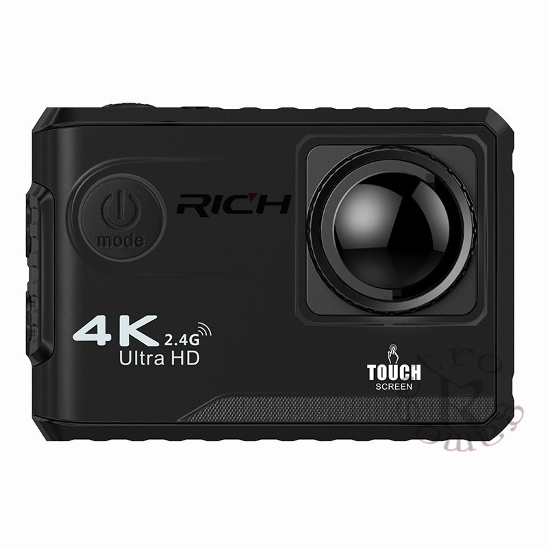 4K/24fps Sport Action Camera WiF UHD 2 Touch Screen 1080P Video Camera Waterproof Remote Action Camera Outdoor Helmet Cam f88 action camera black