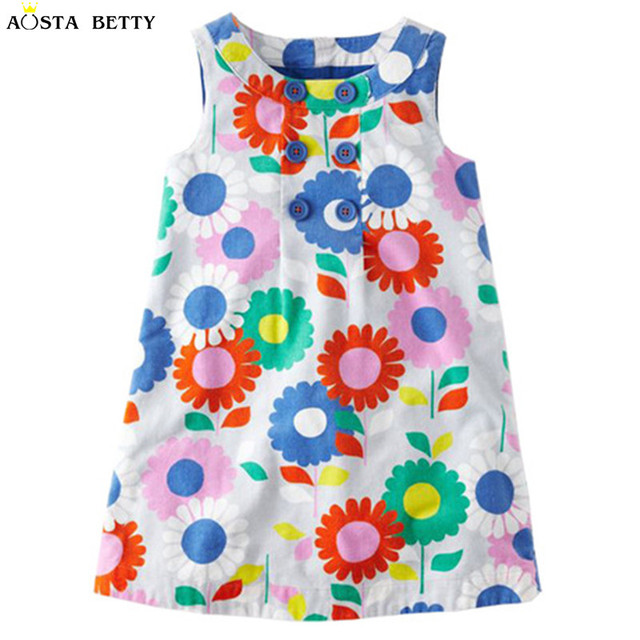 42f3ea627 Aosta Betty children brand 2018 Summer New baby girls 100% Pure ...