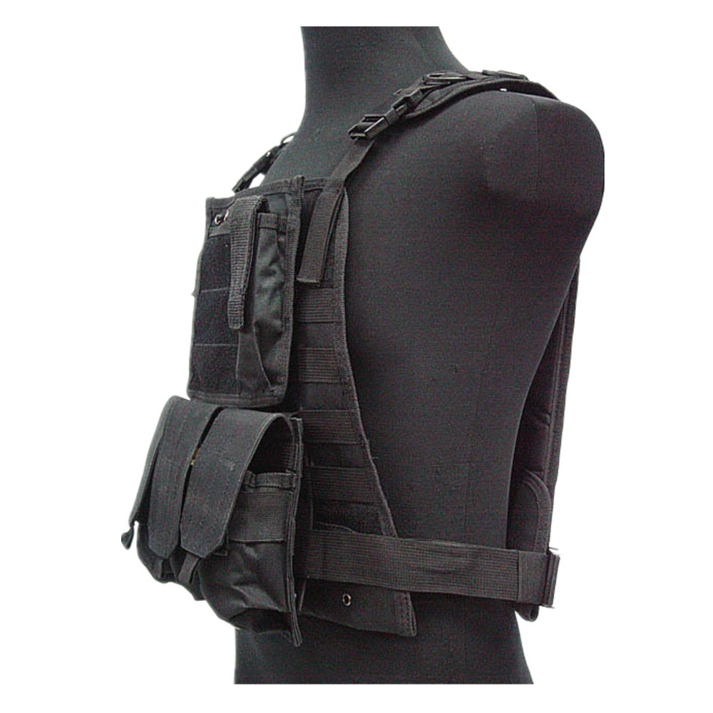 US Marine Assault Tactical Molle Plate Carrier Vest BK CB vest (4)