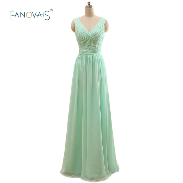 7980a01d9c4 Simple 2017 Three Styles Multi Color A Line Mint Green Chiffon Bridesmaid  Dresses Long Wedding Party Dress Maid of Honor BW01