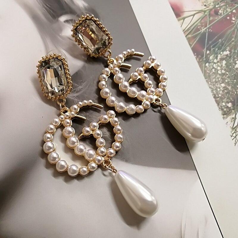 korean trendy long pearl earrings for women big tassel dangle drop pearl earring jewelry yoursfs goddess tassel drop earrings long section of female models fashion earring imitation pearl shining zircon ear pendant page 9
