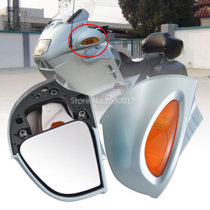 2x Motorcycle Light Blue ABS Rear Side View Mirror Turn Signal Light Fits For BMW R1100RT R1150RT New(China)