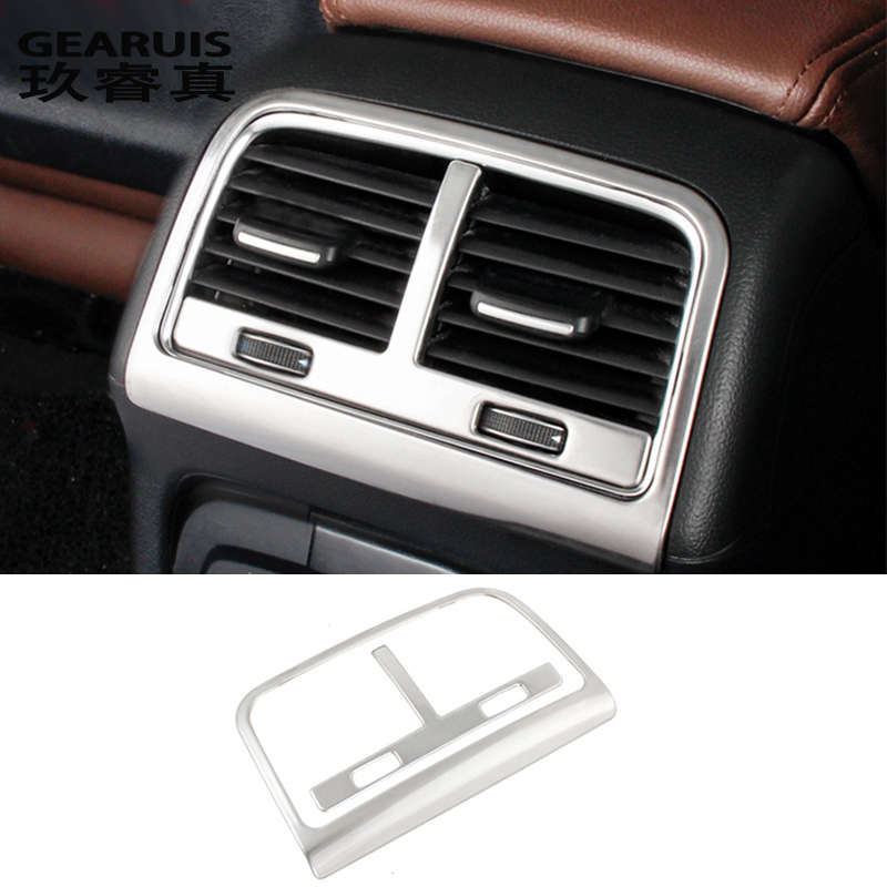Car styling Rear air conditioning vent decorative frame air outlet trim stickers Covers for Audi Q5 a4 b8 a5 auto Accessories|Car Stickers|Automobiles & Motorcycles - title=