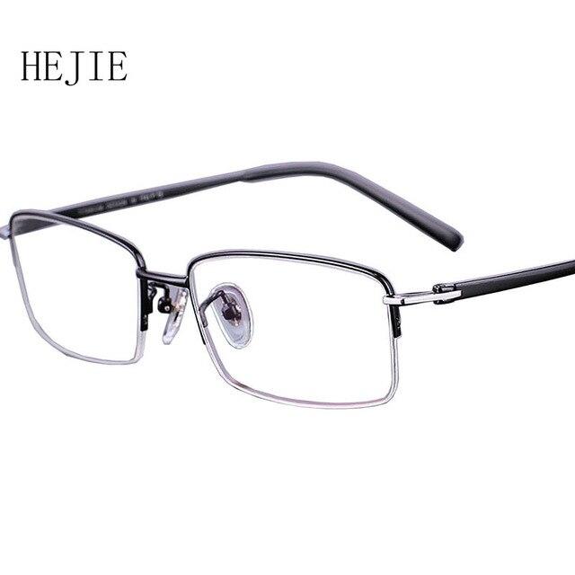 8cdb20d0e0 Fashion Men Pure Titanium Eyeglasses Frames High Quality Brand Myopia  Glasses Frame For Male Size 55-17-140 Y1005