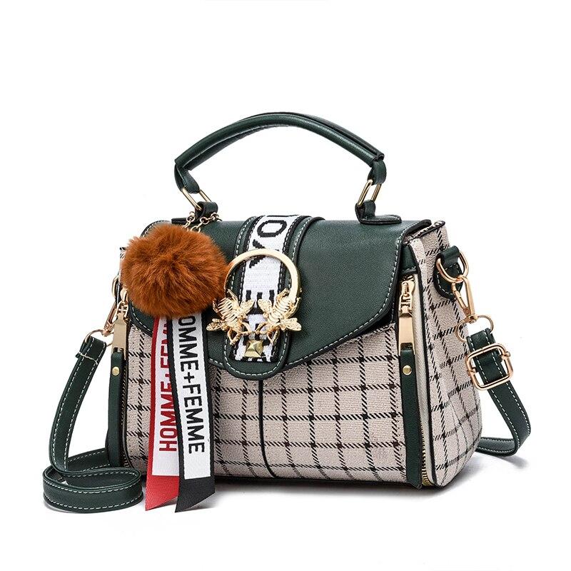 2019 new Designer Crossbody Bag Fashion Bee Women Bags Messenger Handbags  Plaid Women Girl Famous Brands 7c48e6d8b46f