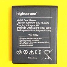 AZK New 4000mAh Replacement Battery for Highscreen Zera S Power Mobile Phone battery 3.8V