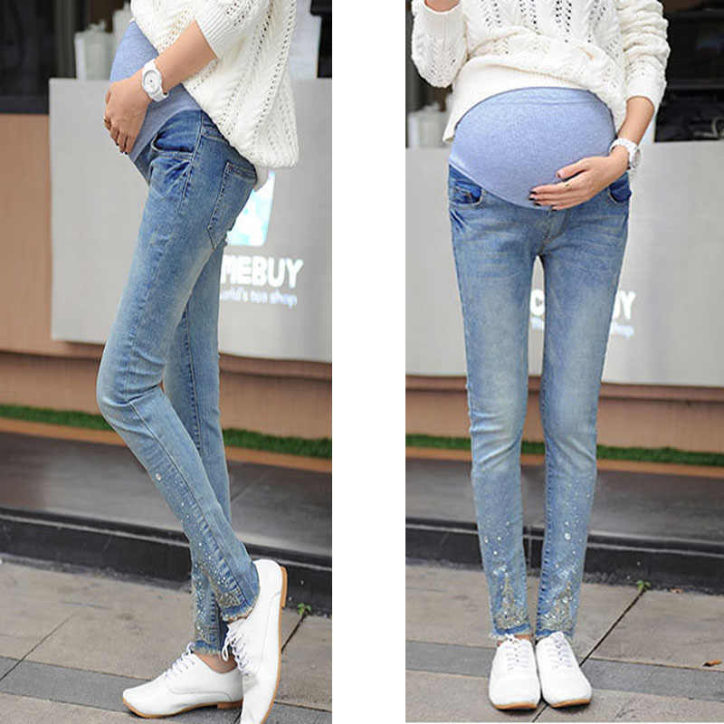 2a216d6af54e0 Detail Feedback Questions about Elasticity Maternity Jeans For Pregnant  Women Pregnancy Jeans Pants Maternity Clothes For Pregnant Women Nursing  Trousers on ...