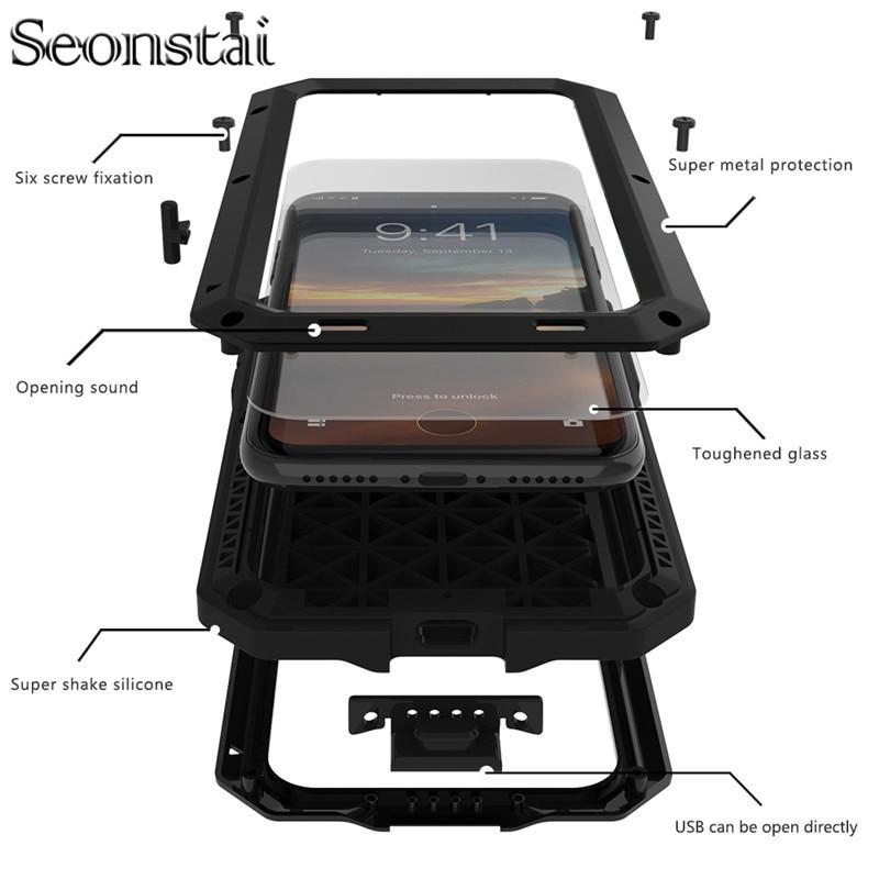 Para iPhone 6 Funda Estuche de metal resistente a prueba de golpes - Accesorios y repuestos para celulares