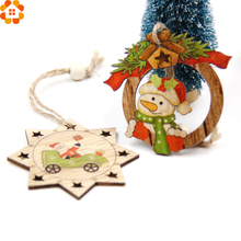 3PCS Multi Style Christmas Wooden Pendants Ornaments Wood Craft For Xmas Tree Ornament DIY Gift Christmas Party Decorations