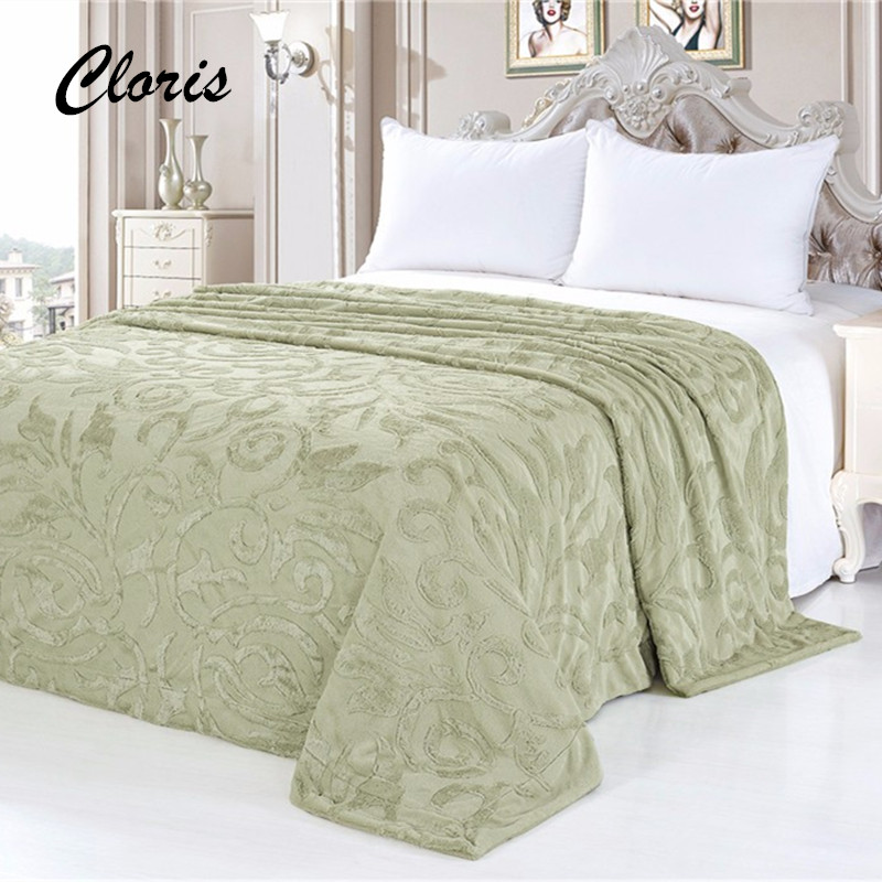 ФОТО CLORIS Comfortable Plaid Hot Sale Sofa Bed Russia Delivery Luxury Throw Blanket Throws Coral Fleece Travel Blanket Cover Bedding