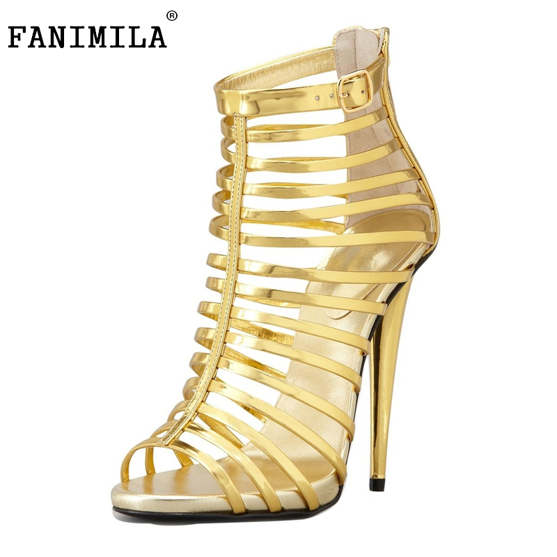 Brand Sandalias Feminina Gladiator Women Sandals Sexy Open Toe High Heel Sandals Women Summer Style Party Shoes Size 35-46 B017