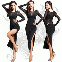 Latin Dance Dress 1 Pcs Nylon Ice Silk Women/Lady/Female Competition Dresses Salsa/Ballroom/Cha Cha/Latin Clothing For Dancer