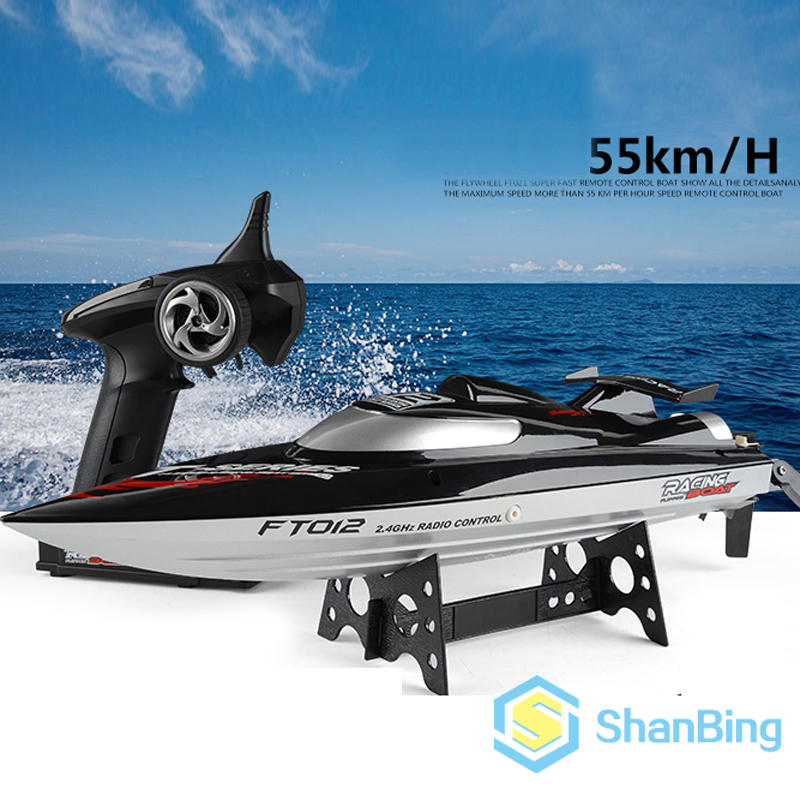 Fei Lun FT012 2.4G 4CH 45km/h Water Cooling System Anti-collision Fine Adjustment Gear Brushless Remote Control Racing Boats стоимость