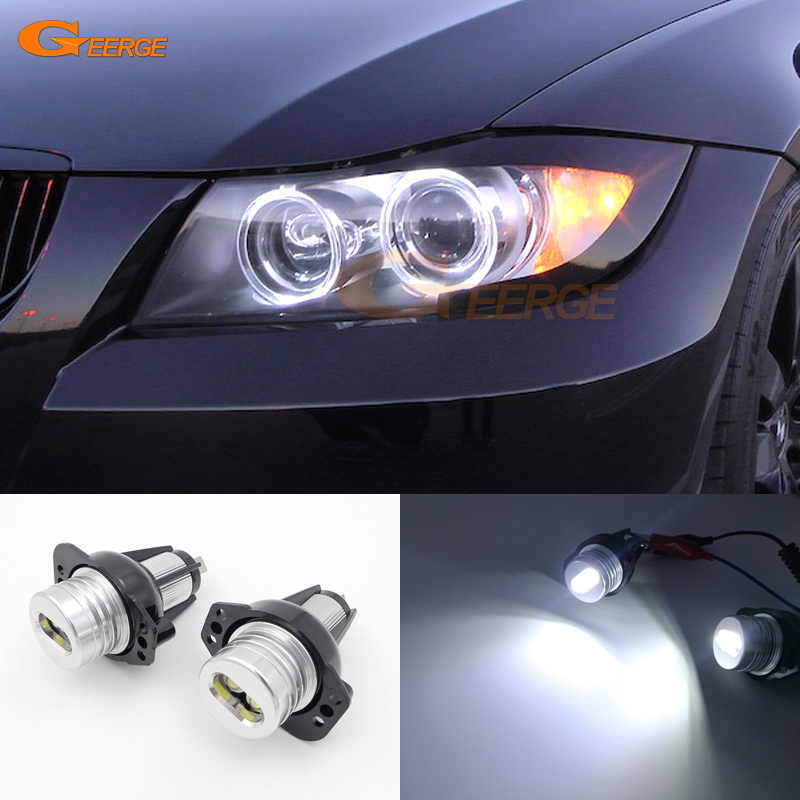 For BMW 3 series E90 E91 325i 325xi 328i 328xi 330i 330xi 06-08 Excellent quality xenon white LED Angel Eyes bulb Halo Light цены