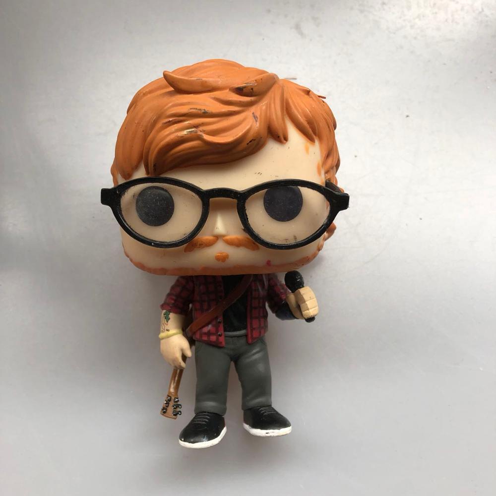 Original Funko Pop Rocks: Ed Sheeran Vinyl Action Figure Collectible Model Loose Toy No Box
