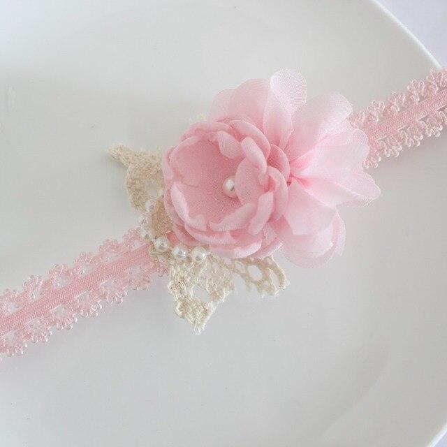 Fashion Kids headband Cute baby gril burn flower headband chiffon rose flower hairband 10pcs/lot