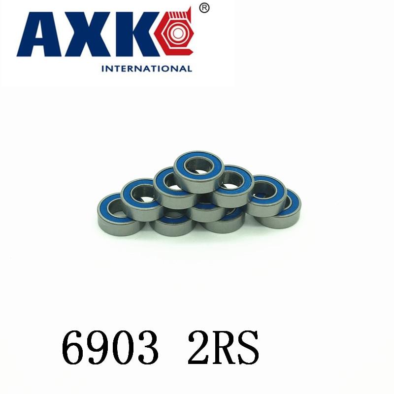 Free Shipping 4PCS  17x30x7 blue Rubber Bearings  ABEC-3  6903 2RS коньки onlitop abec 7 223f р 29 32 blue 1131909