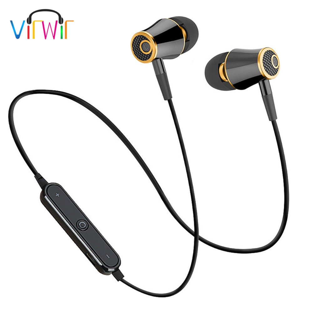 VirWir Sport Bluetooth Earphones Super Bass Earbuds Wireless Headphones Sweatproof Running Headset With Mic for xiaomi phone