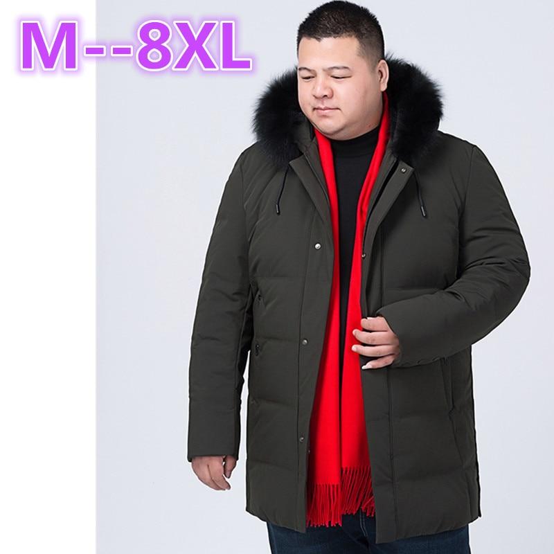 10XL 8XL 6XL 5XL 4XL Brand Navy Parka Men 2017 Winter Jacket Big Fur Hooded Men's Long Down Jacket Coat male Manteau Homme Hiver