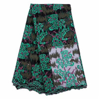 T11 Latest 2017 Nigerian French Mech Lace Fabric Embroidered High Quality African Lace Fabric For Party