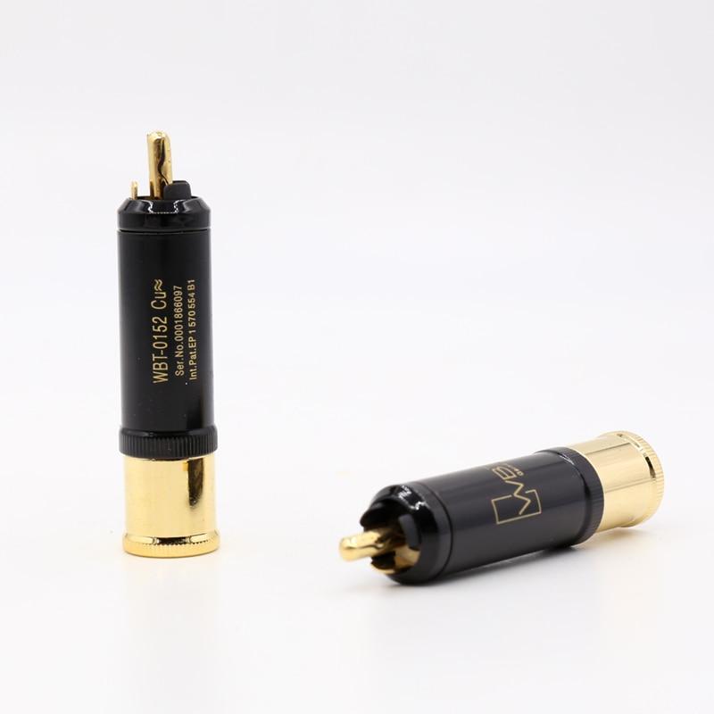 WBT-0152cu WBT nextgen signature cu  copper silver Gold  RCA connector plug wbt 0152 ag nextgen silver rca phono plugs pack of 4pcs free shipping
