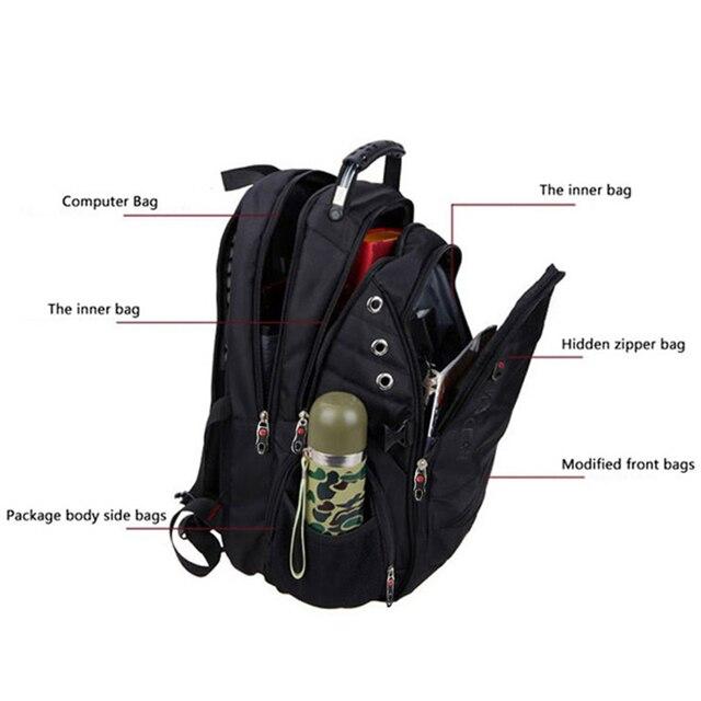 MAGIC UNION 17 Inch Laptop Backpack Men USB Charging Waterproof Oxford Large Travel Backpack Women Rucksack School Bag mochila 3