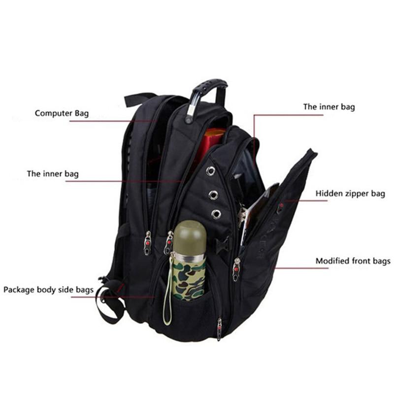 MAGIC UNION 17 pouces sac à dos pour ordinateur portable hommes USB charge imperméable Oxford grand voyage sac à dos femmes sac à dos cartable mochila - 4