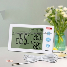 Cheapest prices UNI-T A12T Digital LCD Thermometer Hygrometer temperature Humidity Meter Alarm Clock Weather Station Indoor Outdoor instrument