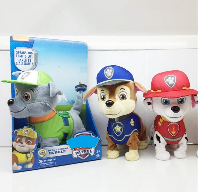 English and Russian Barking Musical Puppy Patrol Dog Patrulla Canina juguetes Electric Walking Singing plush toys