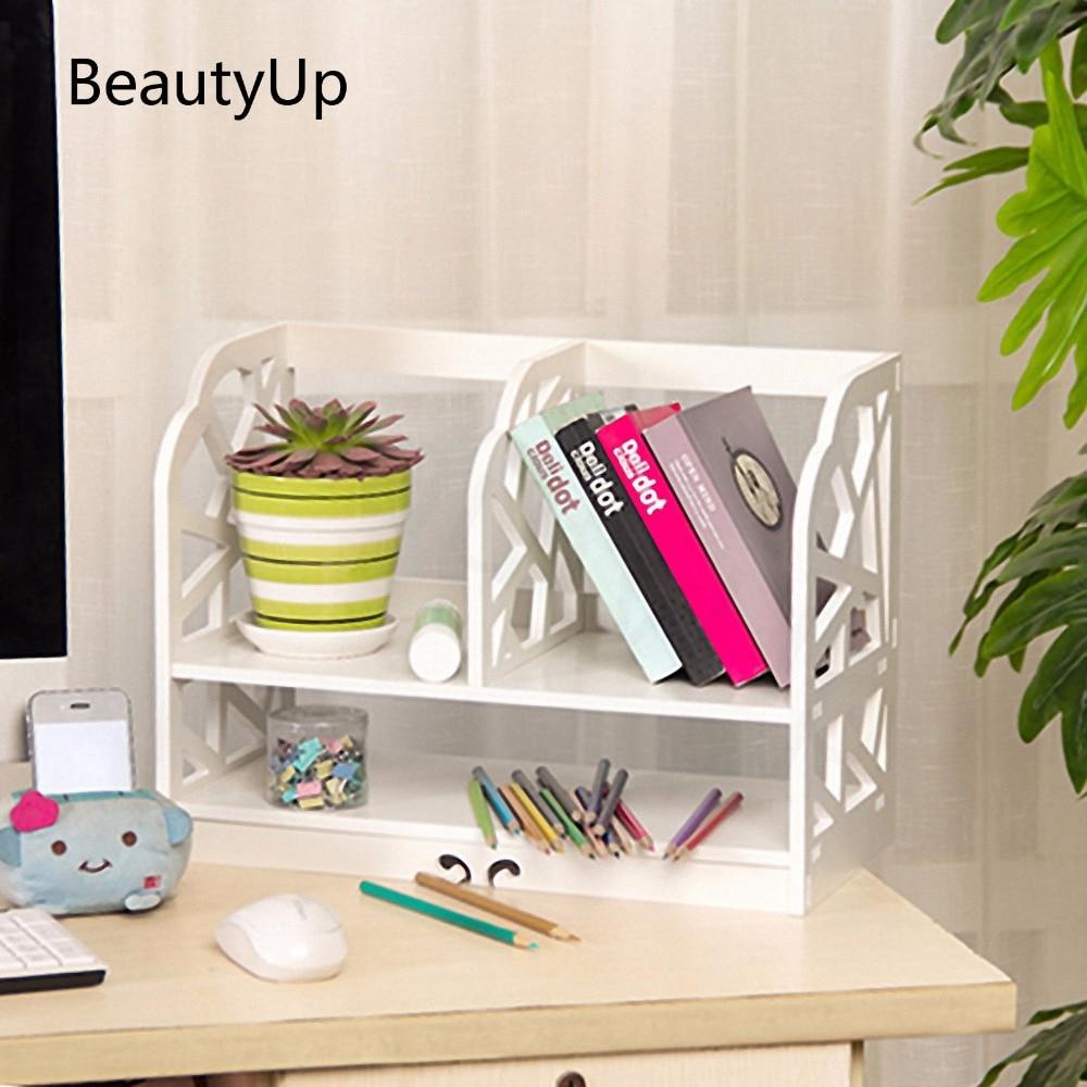 NEW Europe Style Carved Wooden Storage Box Desk Organizer DIY Home & Office Desktop Decorative Wood Book Shelf Rack Office