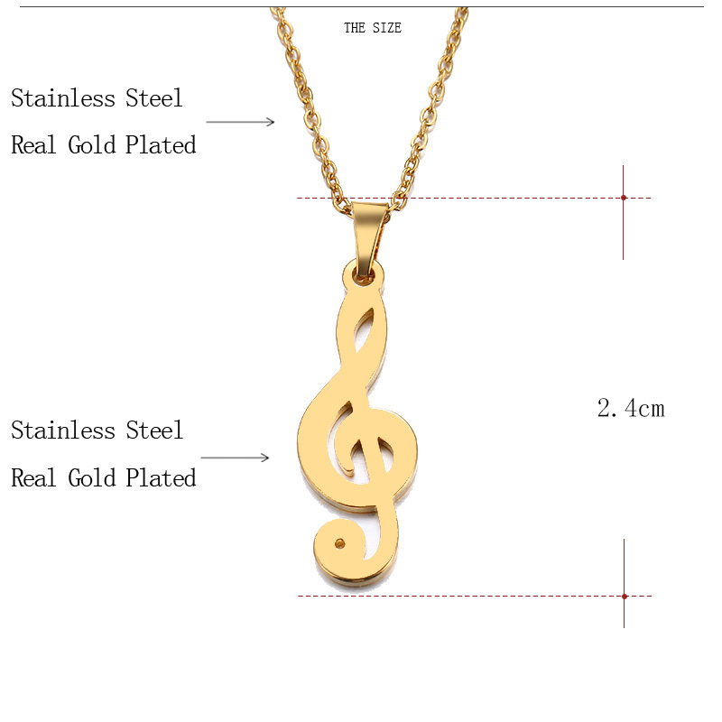 HTB1cqzVC1uSBuNjSsziq6zq8pXa5 - CACANA Stainless Steel Necklace For Women Man Lover's Music Gold And Silver Color Pendant Necklace Engagement Jewelry