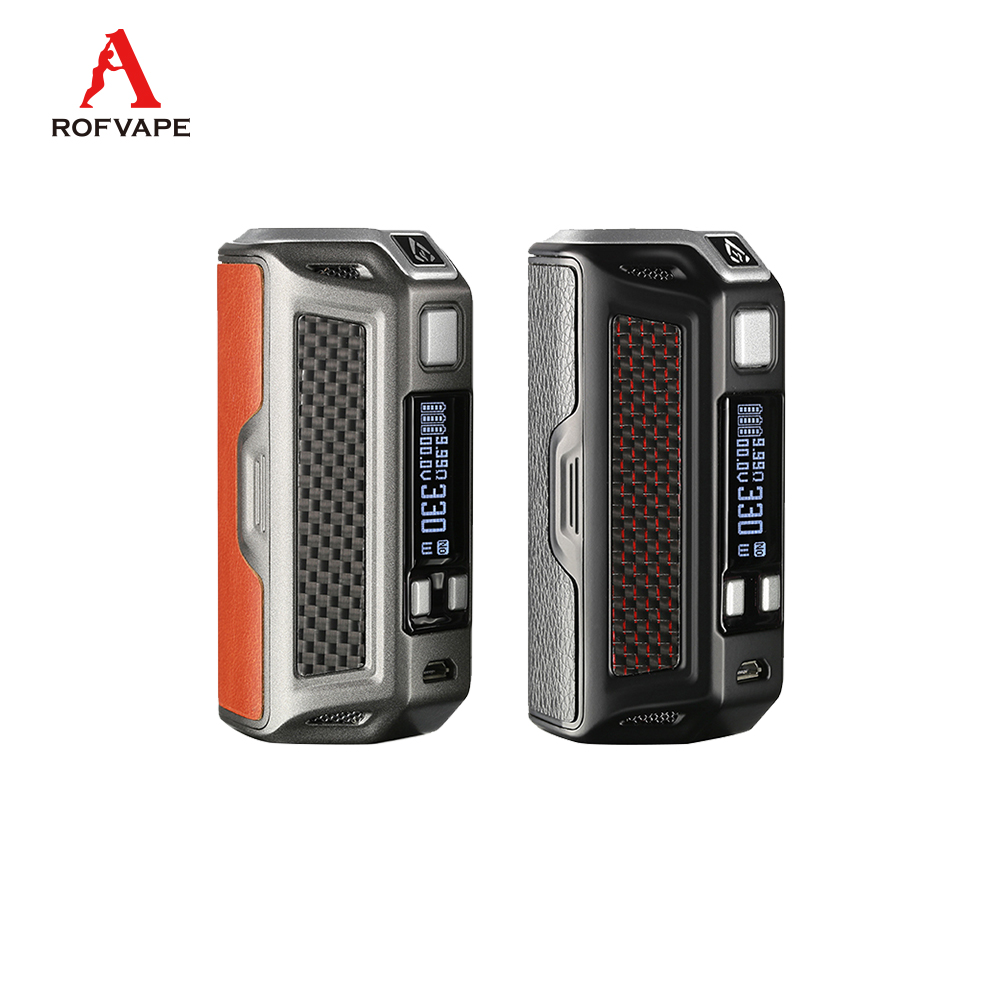Original Rofvape NAGA 330W Box Mod electronic cig without triple 18650 battery 0.91inch OLED display screen vape e sigara mod original rofvape naga 330w mod bypass ni ti ss power mode fit 18650 battery electronic cigarette mods temperature control vape