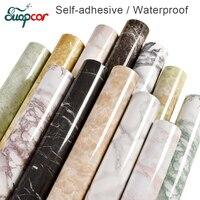 3 M/5 M Marmeren decoratieve film zelfklevende PVC Behang Keuken Moderne contact papier voor Badkamer waterdichte muur stickers