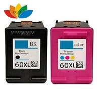 2 Pcs Compatible HP 60 XL Ink Cartridge For HP Deskjet F2480 F2420 F4480 F4580 F4280