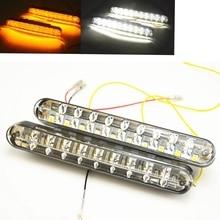 2×30 светодиодные автомобильные фонари, дневные ходовые огни (DRL) с поворотными лампами, внешние ходовые огни
