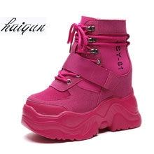 599061a881 2018 Outono Sapatos de Inverno As Sapatilhas Das Mulheres Fivela de Cinto  Mulher Formadores Sapatos Plataforma