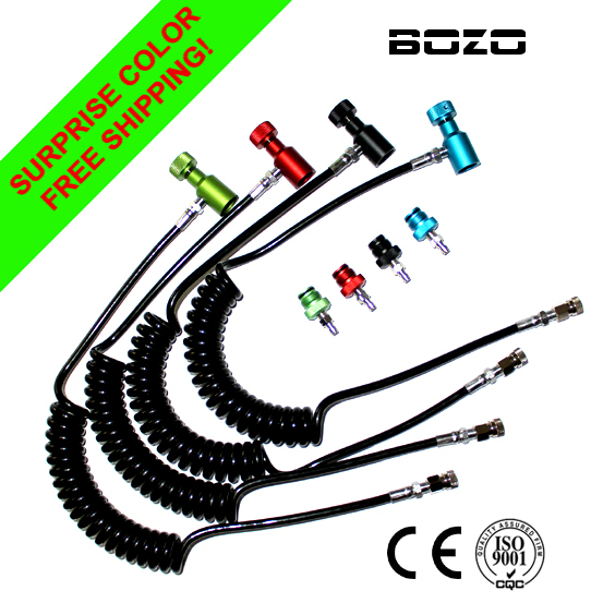 Shooting Ak47 Co2 Airgun Coil Remote Hose Thick Line 2.5M Without Slide Check(multi-color) Paintball New Free Shipping