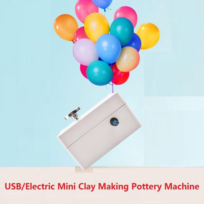1 set USB/Électrique Mini En Argile Poterie Machine Boue Machine Outils Skincolor Pistolet À Air Chaud Manuel DIY Accessoires art Qualité