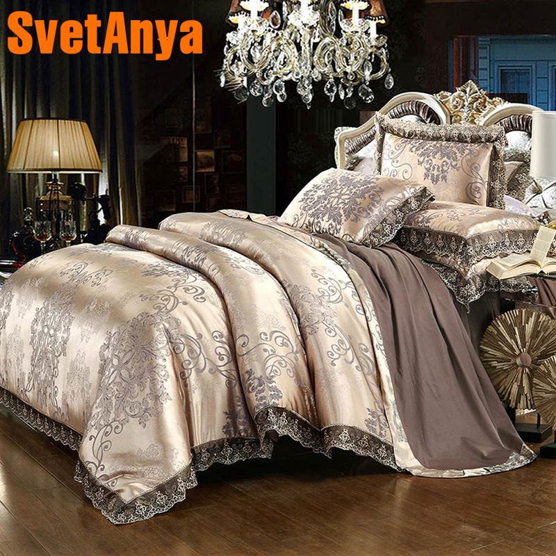 Svetanya 6in1 4in1 Jacquard silky Bedding SetsSvetanya 6in1 4in1 Jacquard silky Bedding Sets